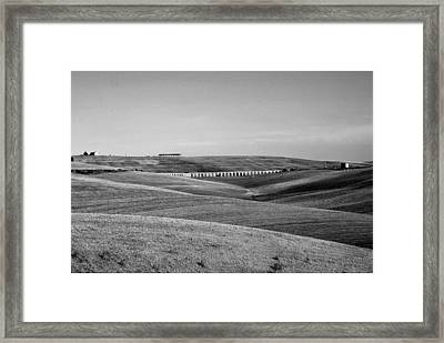Tarquinia Landscape Campaign With Aqueduct And Houses Framed Print