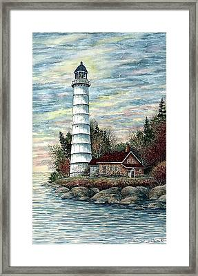Cana Island Light Framed Print by Steven Schultz