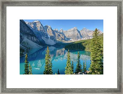 Canada, Banff National Park, Valley Framed Print by Jamie and Judy Wild