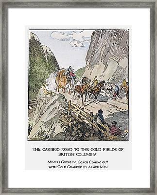 Canada Gold Mining, 1860s Framed Print
