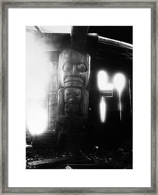 Canada House Post Framed Print