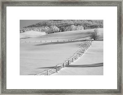 Canadian Winter  Ville De Lac Brome Framed Print