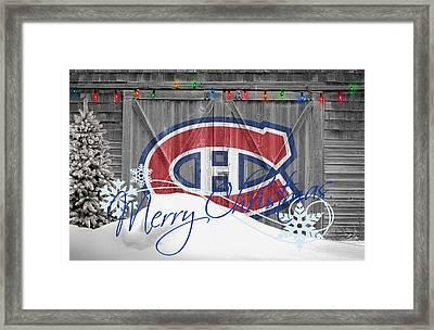Canadiens Framed Print by Joe Hamilton