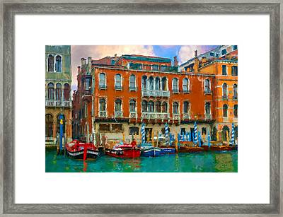 Framed Print featuring the photograph Canal Grande. Venezia by Juan Carlos Ferro Duque
