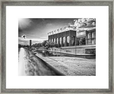 Framed Print featuring the photograph Canal Walk by Howard Salmon