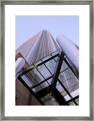 Framed Print featuring the photograph Canary Wharf 1 by Helene U Taylor