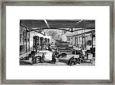 Candle Factory Framed Print
