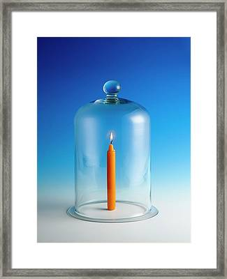 Candle In A Bell Jar Framed Print