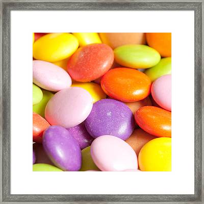 Candy Background Framed Print by Tom Gowanlock
