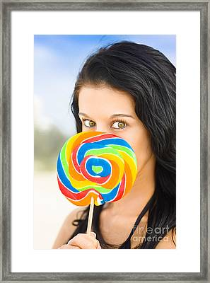Candy Craze Framed Print by Jorgo Photography - Wall Art Gallery