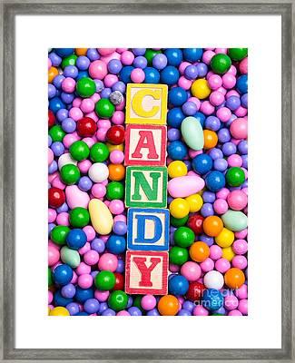 Candy Framed Print by Edward Fielding