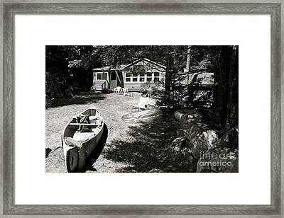 Canoe At The Lake Framed Print by Paul Cammarata
