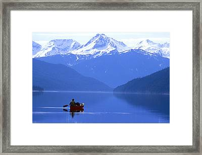 Canoeist, Bowron Lake Park, British Framed Print by Chris Harris