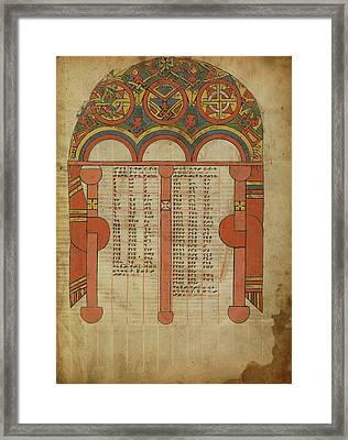 Canon Table Page Unknown Ethiopia Framed Print