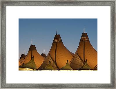 Canopies At Dusk Framed Print by Brian  Weiss