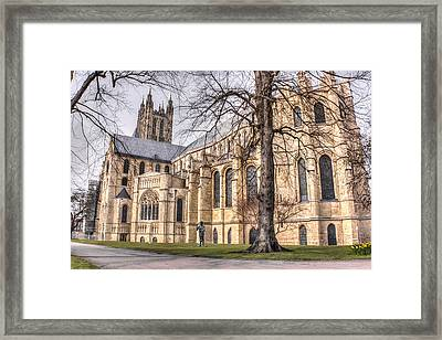 Canterbury Cathedral Framed Print by Ian Hufton