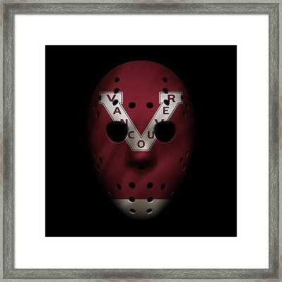 Canucks Jersey Mask Framed Print by Joe Hamilton