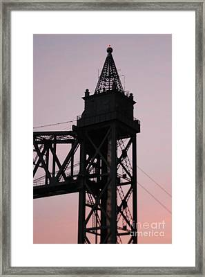 Cape Cod Canal Train Bridge Framed Print