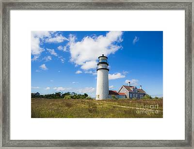 Cape Cod Lighthouse Framed Print by Diane Diederich