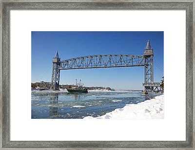 Cape Cod Train Bridge Framed Print by Amazing Jules