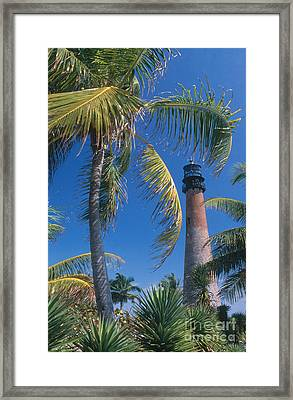 Cape Florida Lighthouse, Fl Framed Print