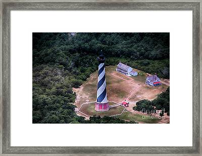 Cape Hatteras Lighthouse From Above Framed Print