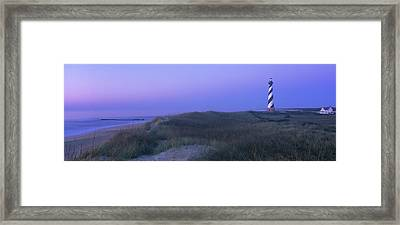 Cape Hatteras Lighthouse On The Coast Framed Print