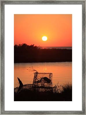 Framed Print featuring the photograph Cape Hatteras Sunset North Carolina by Mountains to the Sea Photo