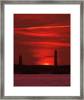 Cape Henry Lighthouses  Framed Print