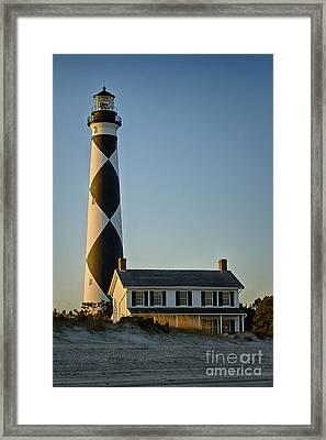 Cape Lookout Lighthouse North Carolina Framed Print