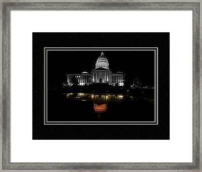 Capitol Reflection Framed Print