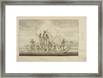 Captain Cook's First Voyage Of Exploratio Framed Print