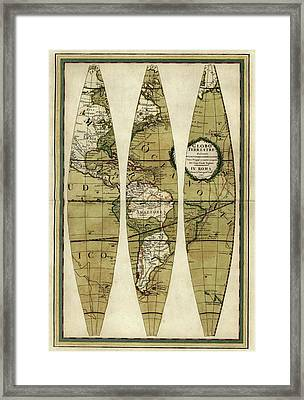 Captain Cook's Voyages Framed Print by Library Of Congress, Geography And Map Division