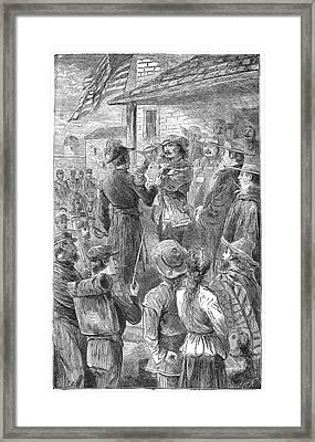 Capture Of Santa Fe, 1846 Framed Print by Granger
