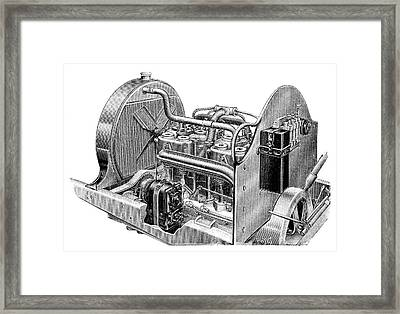 Car Engine And Magneto Framed Print by Science Photo Library