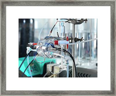 Carbon Capture Research Framed Print by Andrew Brookes, National Physical Laboratory