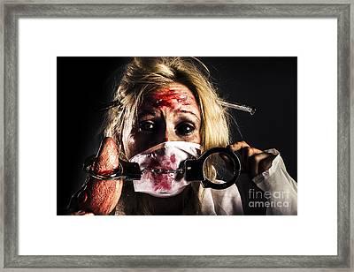Cardiac Arrest From Horror Health Care Framed Print by Jorgo Photography - Wall Art Gallery