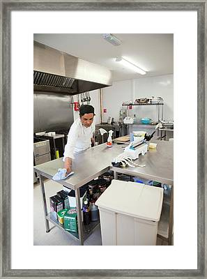 Care Home Kitchen Framed Print