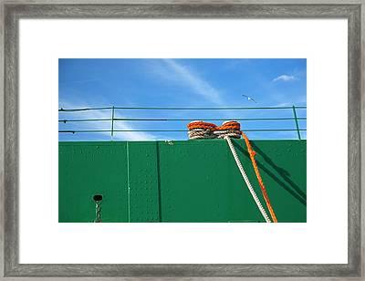 Cargo Ship Mooring Line Framed Print