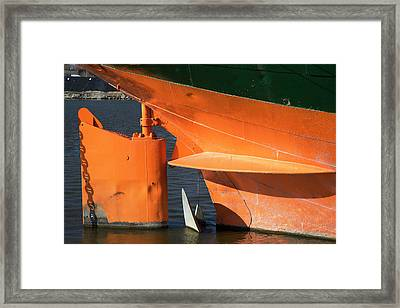 Cargo Ship Rudder Framed Print