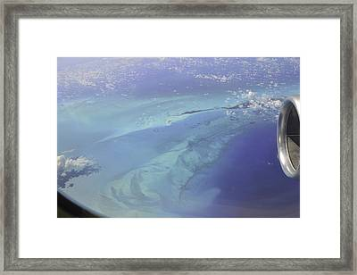 Caribbean Aerial 2 Framed Print