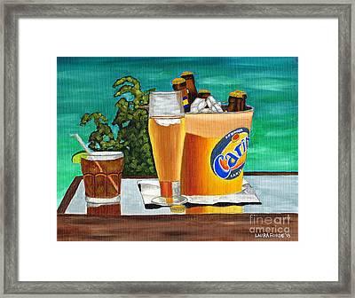 Caribbean Beer Framed Print