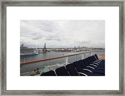 Caribbean Cruise - On Board Ship - 121215 Framed Print
