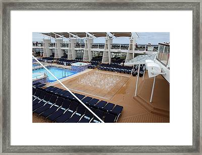 Caribbean Cruise - On Board Ship - 12129 Framed Print by DC Photographer