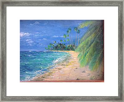 Framed Print featuring the painting Caribbean Landscape by Egidio Graziani