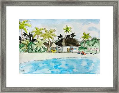 Caribbean Scenery Framed Print