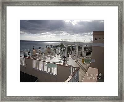 Caribbean Storm Framed Print by Thomas Espinosa