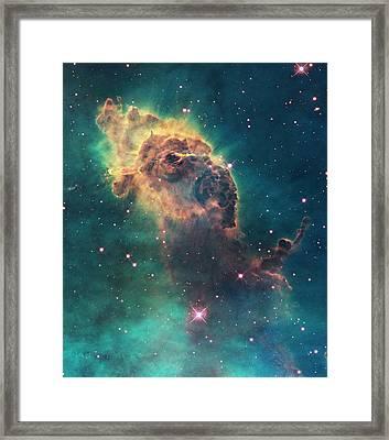 Carina Nebula Pillar Framed Print by Nasa/esa/stsci/hubble Sm4 Ero Team