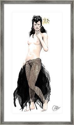 Carmen Framed Print by Quim Abella