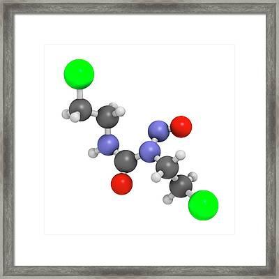 Carmustine Cancer Chemotherapy Drug Framed Print